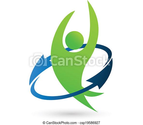логотип, здоровье, природа - csp19586927