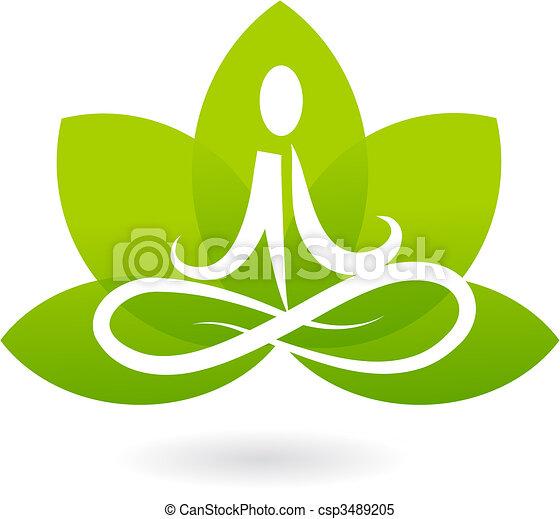 лотос, логотип, йога, /, значок - csp3489205