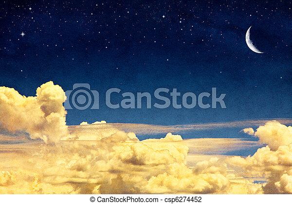 луна, cloudscape - csp6274452