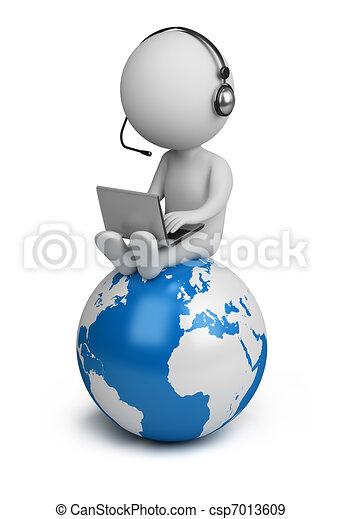 люди, глобальный, -, менеджер, маленький, 3d - csp7013609