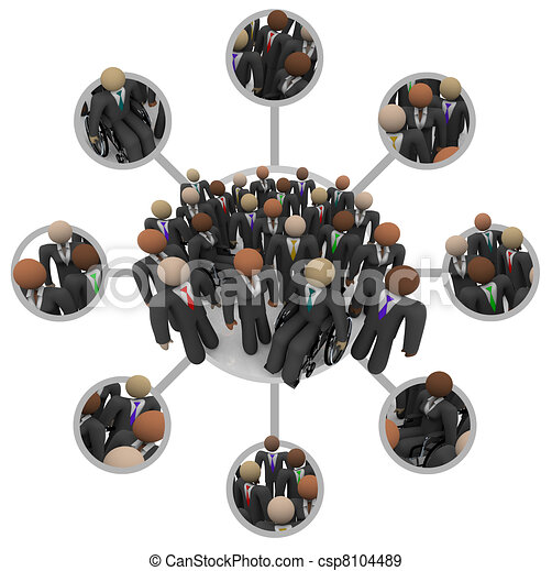 люди, трудовые ресурсы, suits, разнообразный, связанный, профессиональный - csp8104489