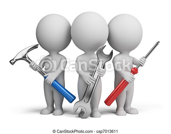 маленький, -, 3d, repairers, люди - csp7013611