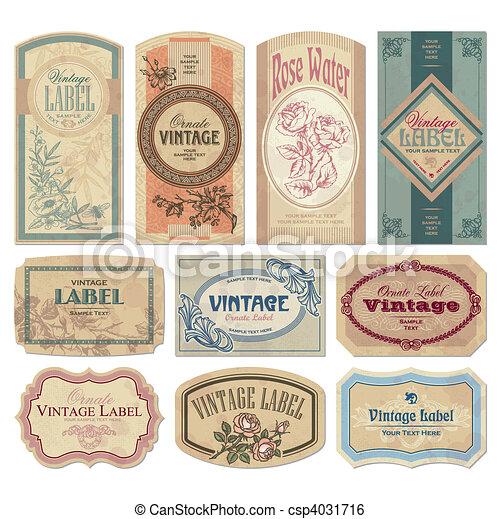 марочный, labels, задавать, (vector) - csp4031716