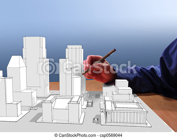мечта, architect's - csp0569044