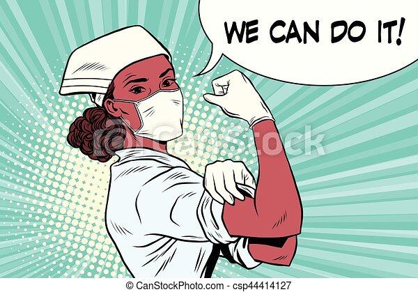 мы, женщина, врач, это, черный, можно - csp44414127