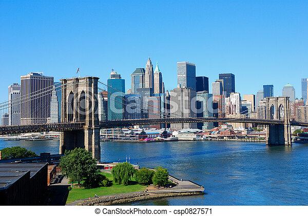 новый, линия горизонта, йорк, город - csp0827571