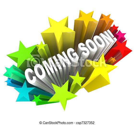 объявление, продукт, открытие, скоро, приход, новый, или, магазин - csp7327352
