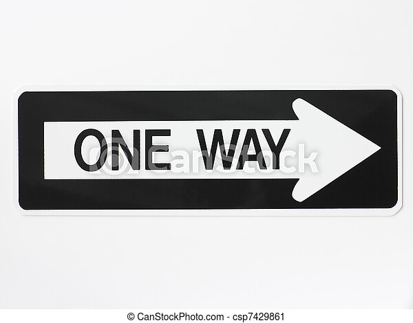 один, путь, дорога, знак - csp7429861
