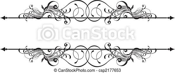 орнаментальный, баннер, красота - csp2177653