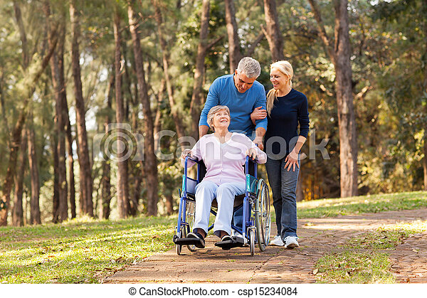 пара, ходить, отключен, их, мама, старшая, принятие - csp15234084