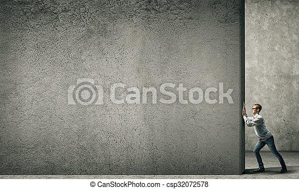 парень бетон