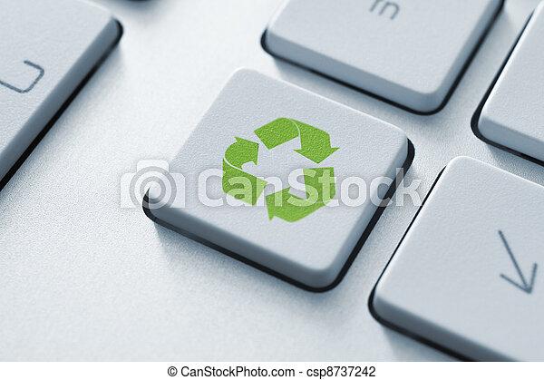 перерабатывать, кнопка, клавиатура - csp8737242