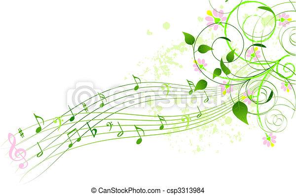 песня, весна, задний план - csp3313984