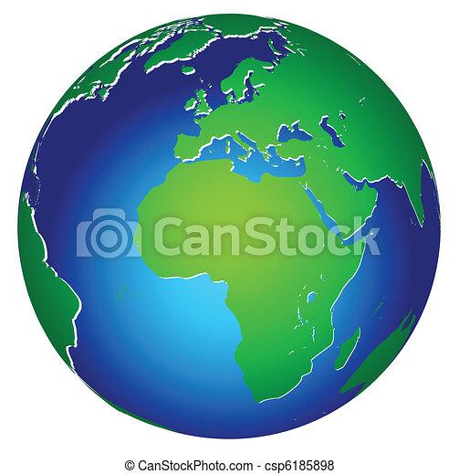 планета, земля, глобальный, значок, мир - csp6185898