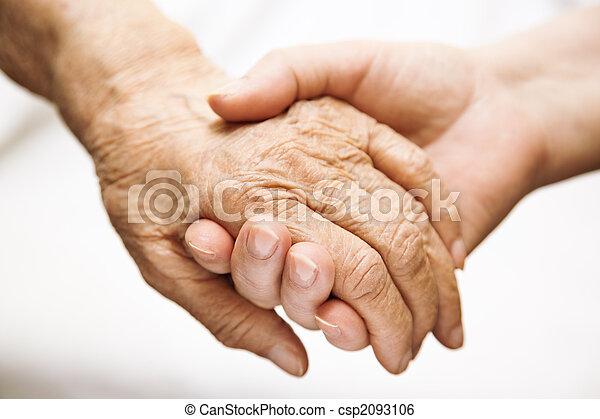 помощь, старшая, больница, взрослый - csp2093106