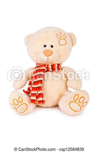пушистый, медведь, тедди - csp12584839