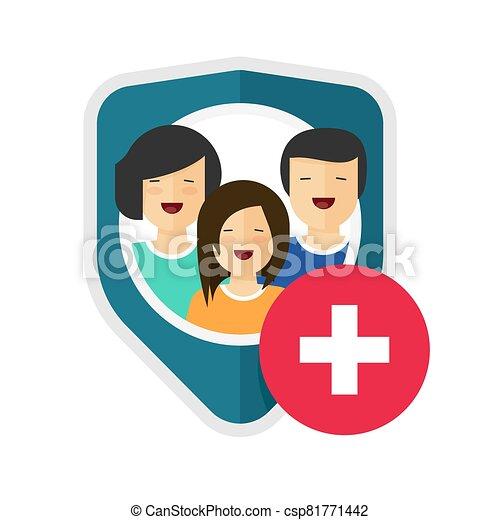 риск, охват, концепция, щит, здоровье, частный, защита, значок, или, забота, defence, безопасность, квартира, сторож, вектор, помогите, медицинская, семья, дизайн, жизнь, помощь, мультфильм, символ, знак, страхование, домашнее хозяйство - csp81771442