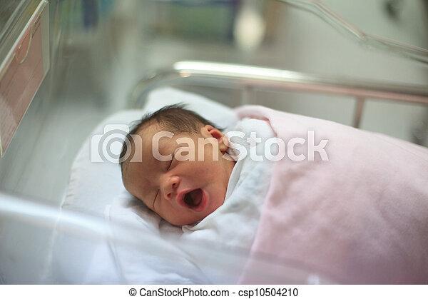 родился, спящий, младенец, одеяло, новый - csp10504210