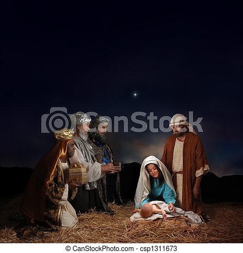 рождество, люди, мудрый, рождество - csp1311673