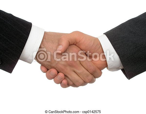 рукопожатие, бизнес - csp0142575