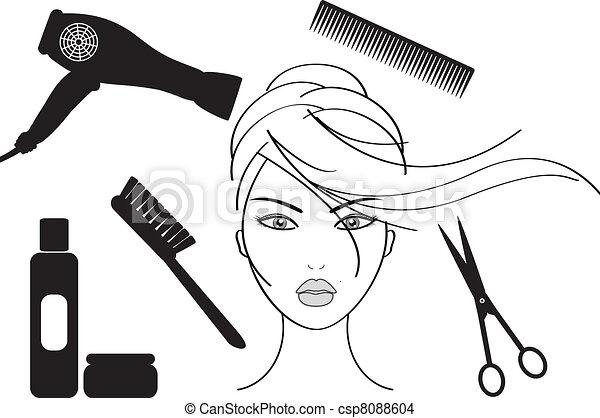 салон, парикмахерское дело - csp8088604