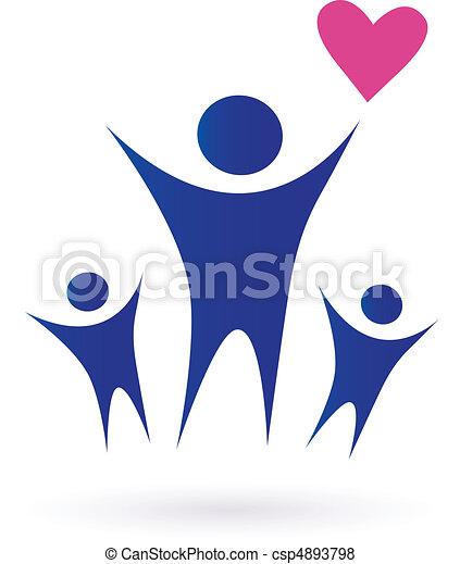 семья, здоровье, сообщество, icons - csp4893798