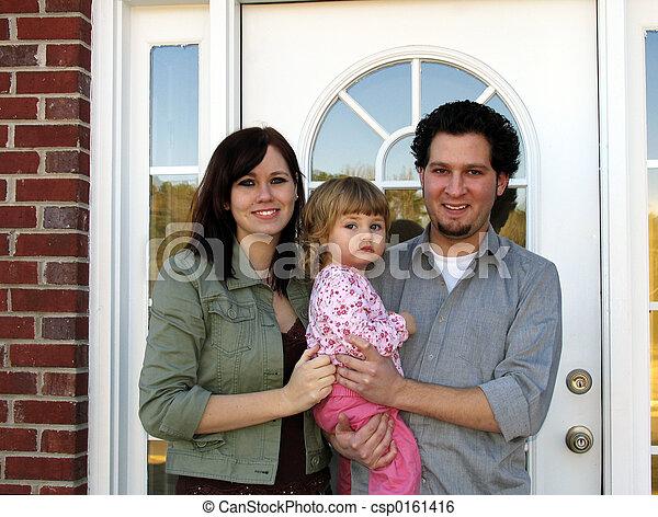 семья, новый, главная - csp0161416