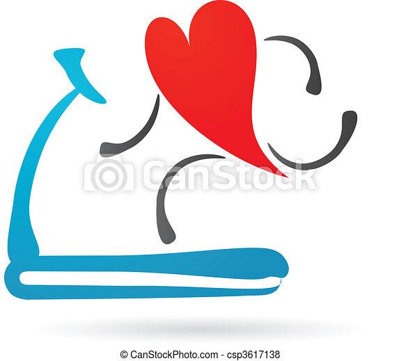 сердце, бегущая дорожка - csp3617138