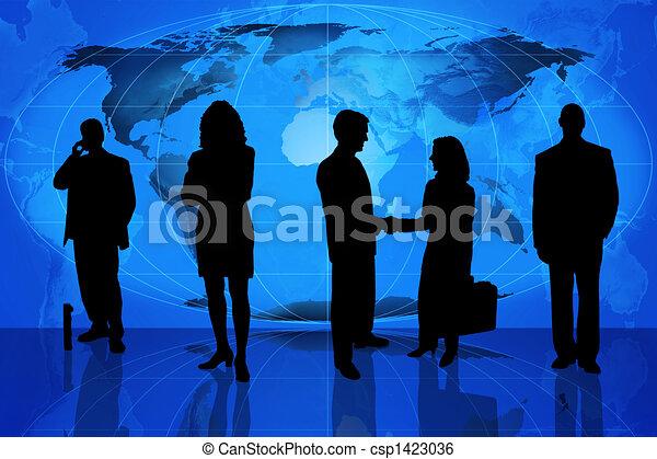 силуэт, профессиональный, бизнес - csp1423036