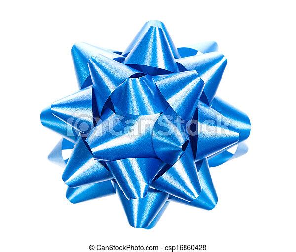 синий, белый, isolated, лук - csp16860428