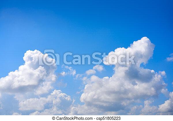 синий, кучевые облака, белый, небо, clouds - csp51805223
