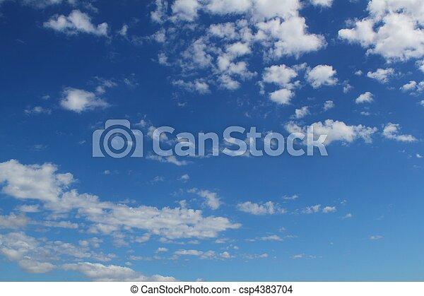 синий, лето, clouds, cloudscape, небо, задний план - csp4383704