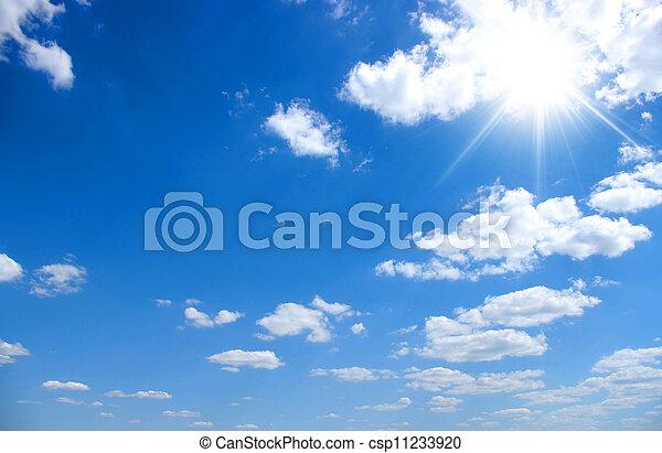 синий, небо, задний план - csp11233920