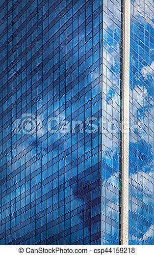 синий, небо, небоскреб, против - csp44159218