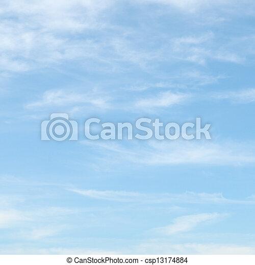 синий, небо, clouds, легкий - csp13174884