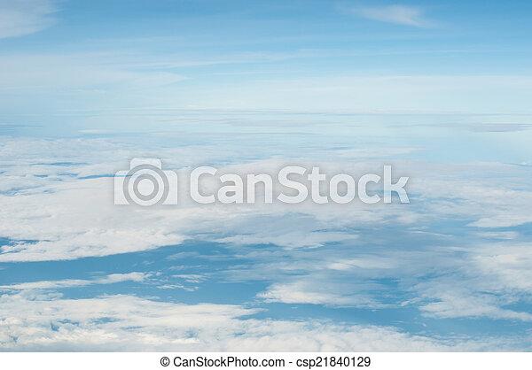 синий, clouds, пушистый, небо, задний план, белый - csp21840129