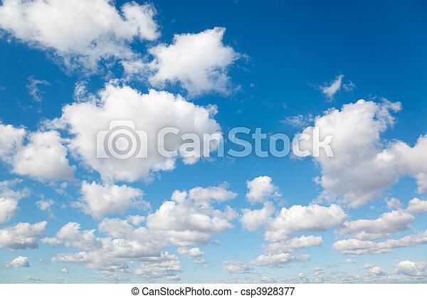 синий, clouds, sky., пушистый, clouds., задний план, белый - csp3928377