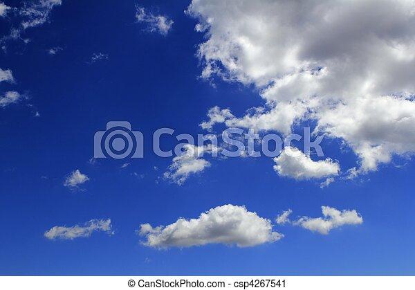 синий, cloudscape, clouds, градиент, небо, задний план - csp4267541
