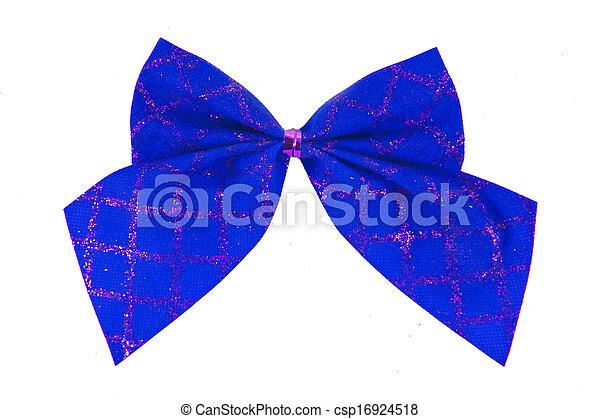 синий, isolated, задний план, белый, лук - csp16924518