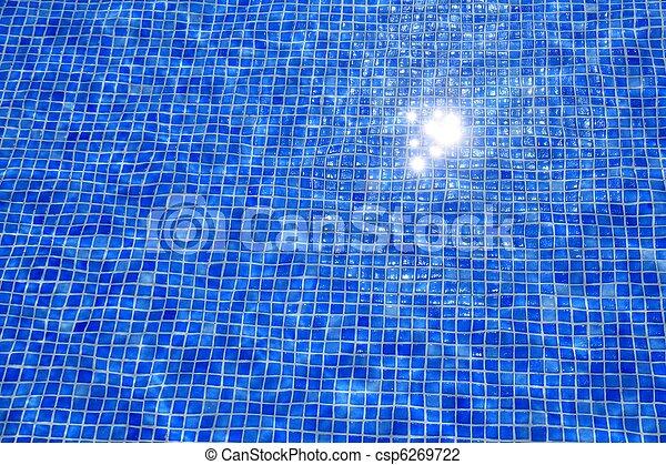 синий, tiles, отражение, текстура, воды, бассейн, плавание - csp6269722