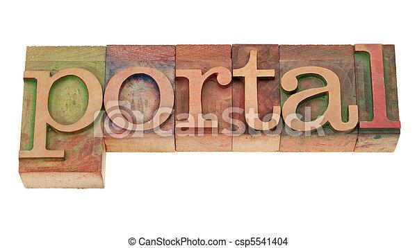слово, типографской, -, дерево, портал, тип - csp5541404