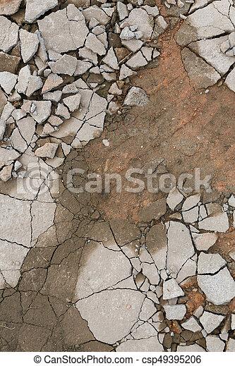 Сломанный бетон вид бетон