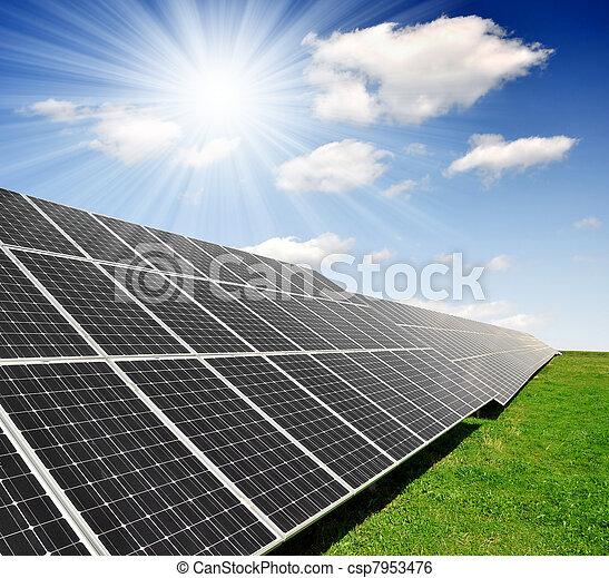 солнечный, panels, энергия - csp7953476