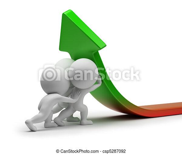 статистика, люди, -, улучшение, маленький, 3d - csp5287092