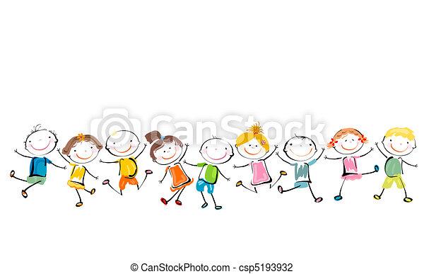 счастливый, kids, playing - csp5193932