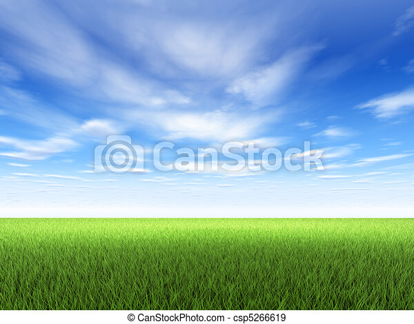 трава, небо - csp5266619