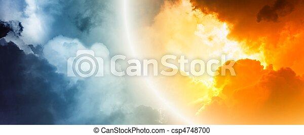 фантастика, закат солнца - csp4748700