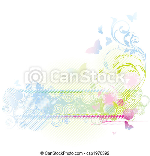 цветочный, дизайн, задний план - csp1970392