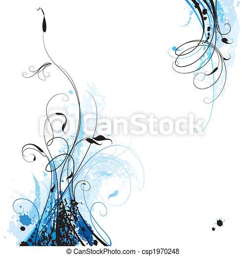 цветочный, задний план - csp1970248