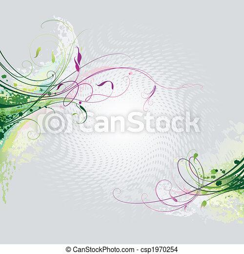 цветочный, задний план - csp1970254